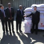 Chinese donate food parcels